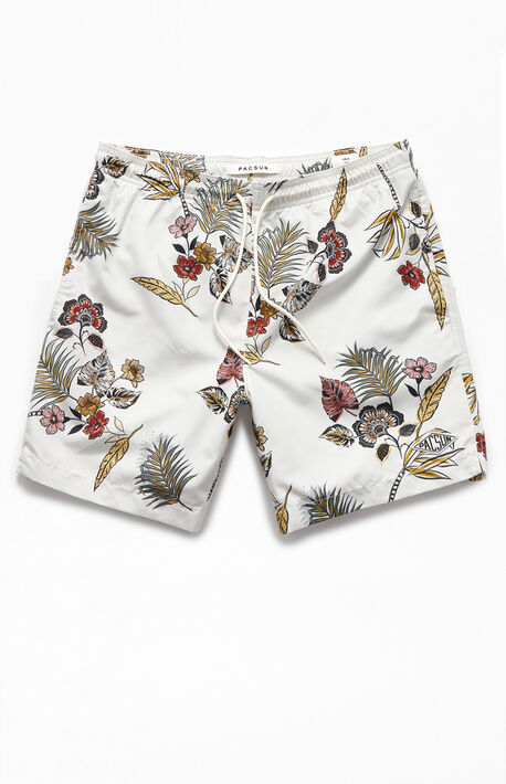 "Floral 16.5"" Swim Trunks"