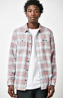 Diffusion Plaid Flannel Long Sleeve Button Up Shirt