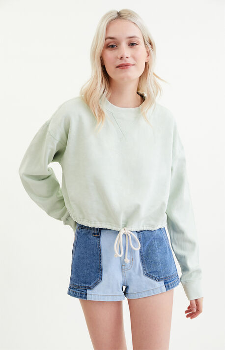 Zion Drawcord Crew Neck Sweatshirt