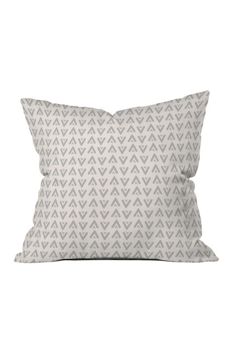 Grey Arrows Throw Pillow