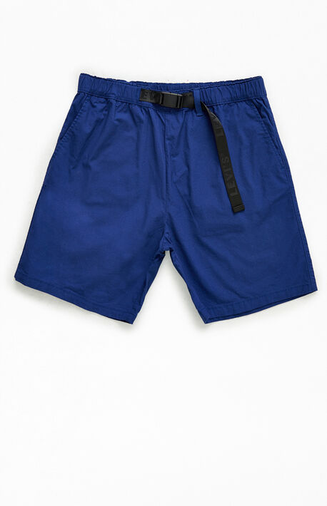 Navy Belted Utility Shorts