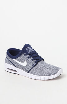 Stefan Janoski Max Knit Blue & White Shoes