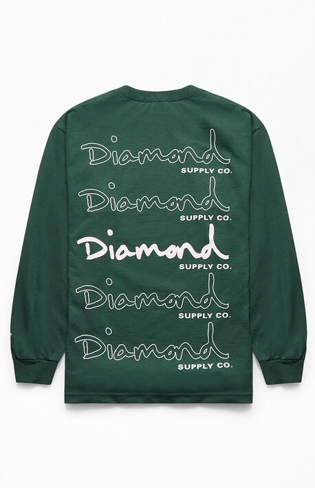 watch 22396 e122c Stacked OG Script Long Sleeve T-Shirt. Diamond Supply Co Stacked OG Script  Long Sleeve ...