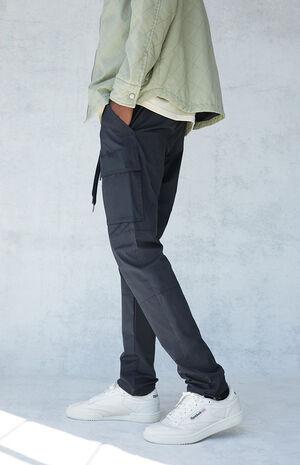 Utility Black Nylon Slim Cargo Pants image number null