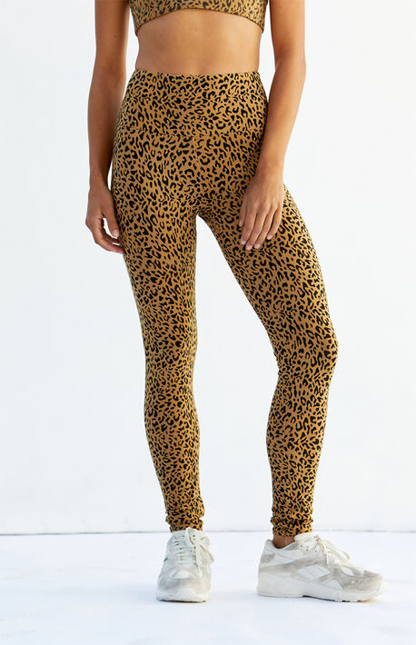 Leopard Print Fluff Leggings