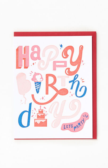Happy Birthday Letter Greeting Card