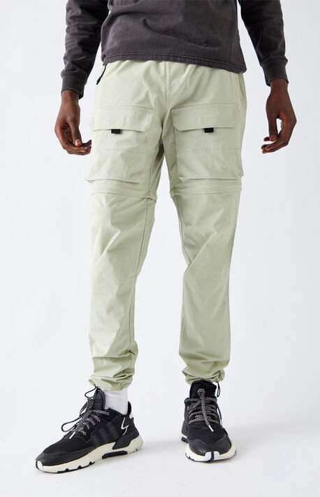 Utility Light Green Zip-Off Cargo Pants
