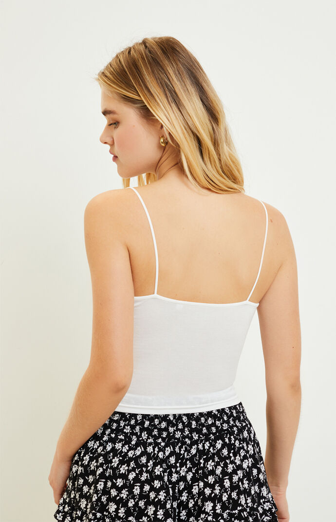 Easy Cinched Cropped Cami Top