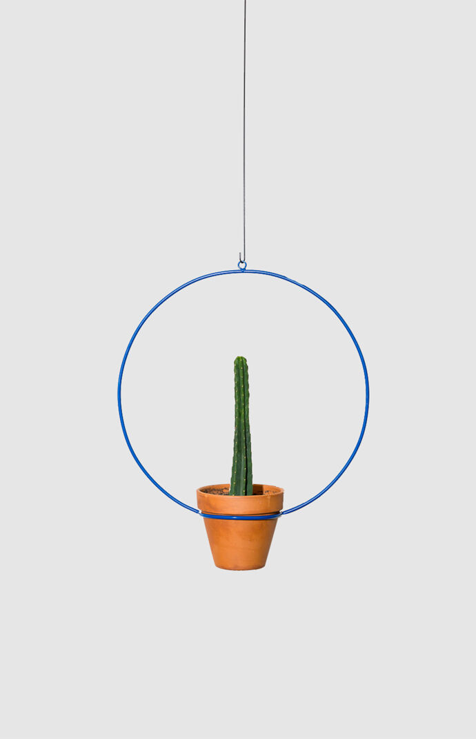 Blue Hanging Circle Planter