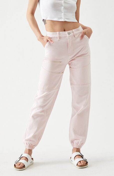 Pink Utility Joggers