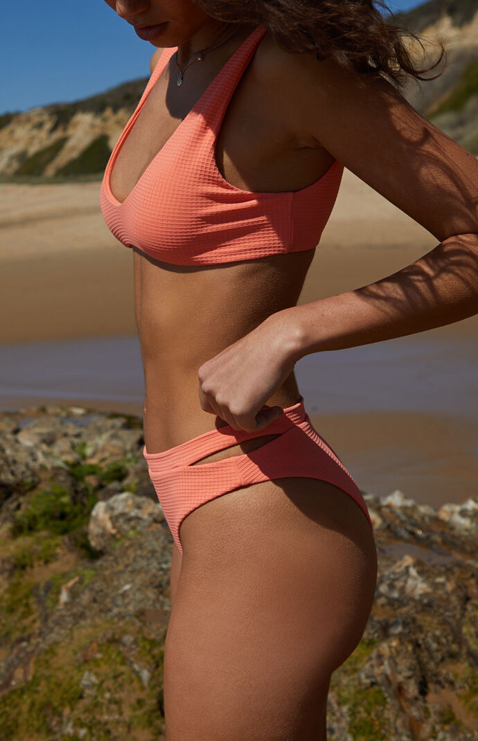 Eco Pink Cut Out Bikini Bottom