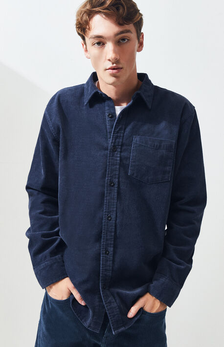 Zolo Corduroy Long Sleeve Button Up Shirt