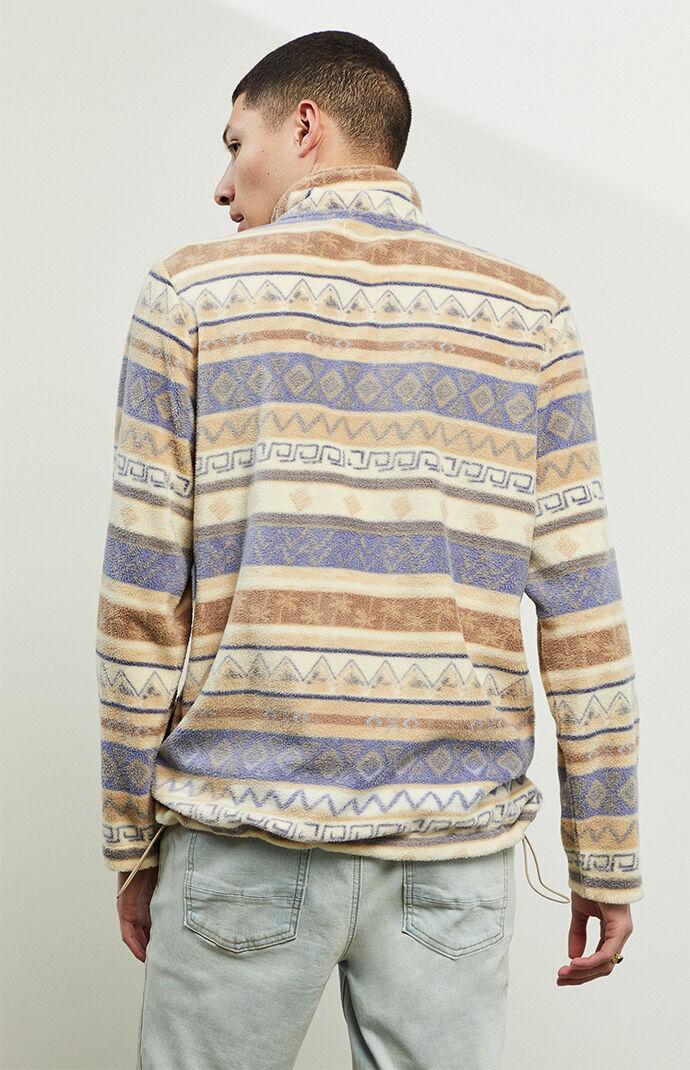 Folk Half-Zip Pullover Sweatshirt