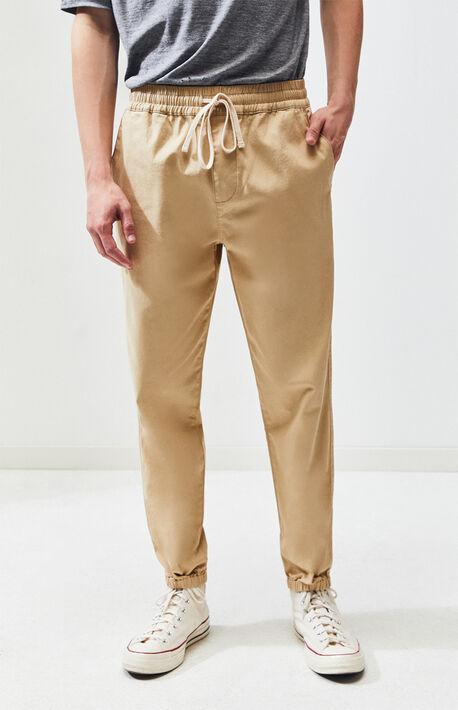 Khaki Basic Jogger Pants
