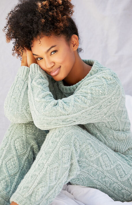 Fireside Cable Knit Sweater Set