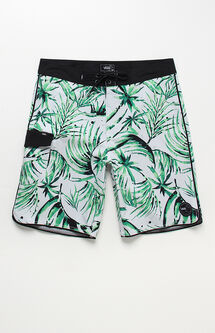 "Mixed Scallop Palm Leaf 20"" Boardshorts"