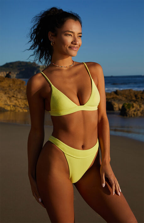Eco Yellow Zuma Terry Bikini Top