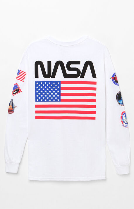 4ce8a163 x NASA Patch Long Sleeve T-Shirt
