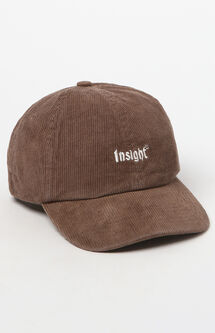 Corduroy Brown Strapback Dad Hat