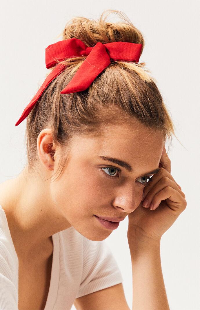 Red Tie Scrunchie