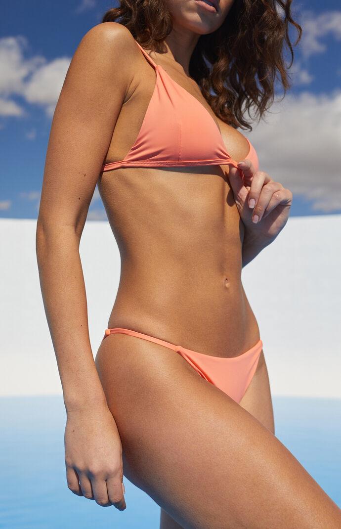 Eco Pink Sig Triangle Bikini Top