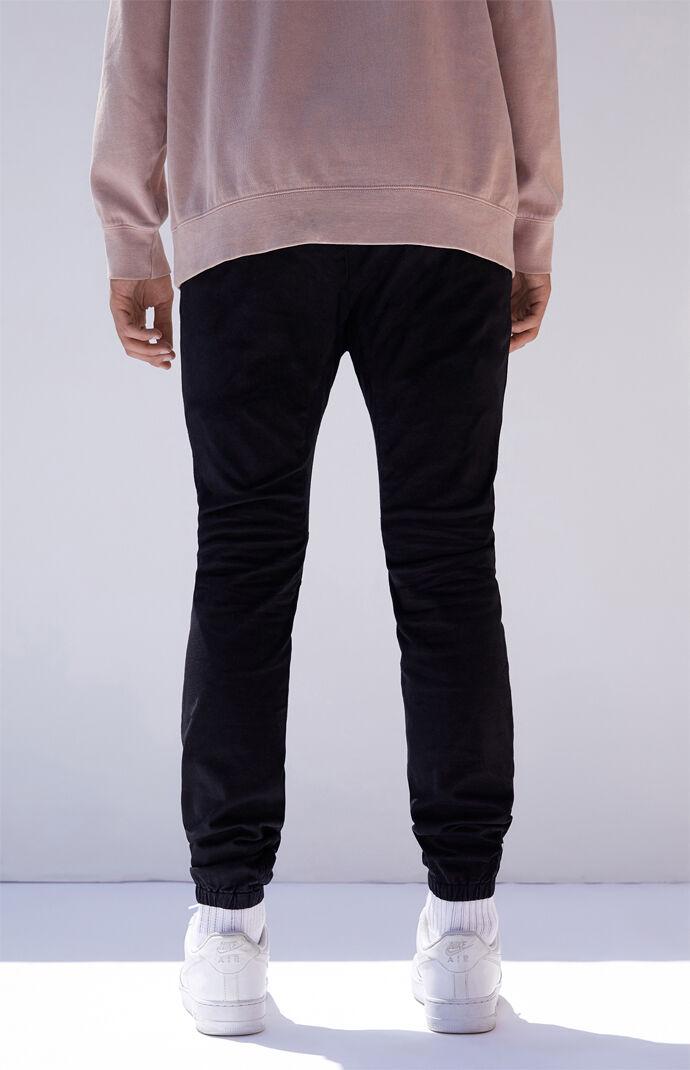 Black Skinny Jogger Pants