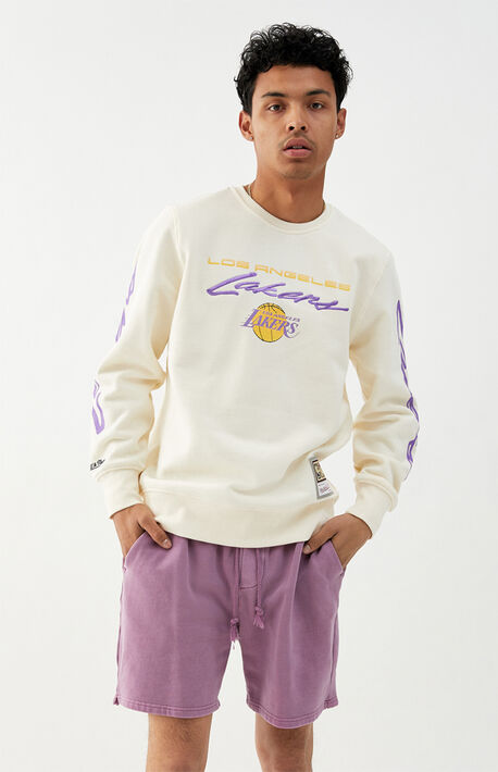 Lakers Flames Crew Neck Sweatshirt