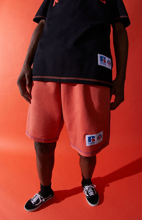 x Russell Athletic Rust Volley Shorts