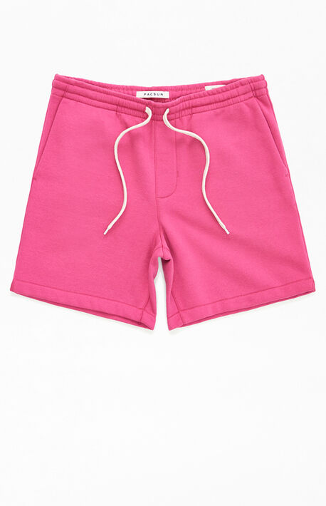 Pink Fleece Volley Shorts