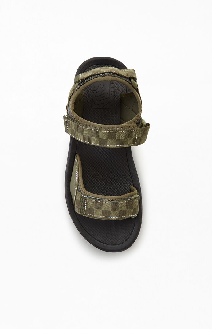 Olive Checker UltraRange Tri-Lock Sandals