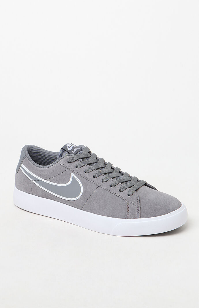 Nike SB Blazer Vapor Grey and White Shoes at PacSun.com 574def2d4