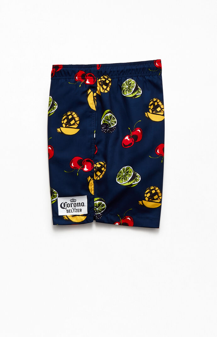 "Corona Seltzer Fruit 16"" Swim Trunks"
