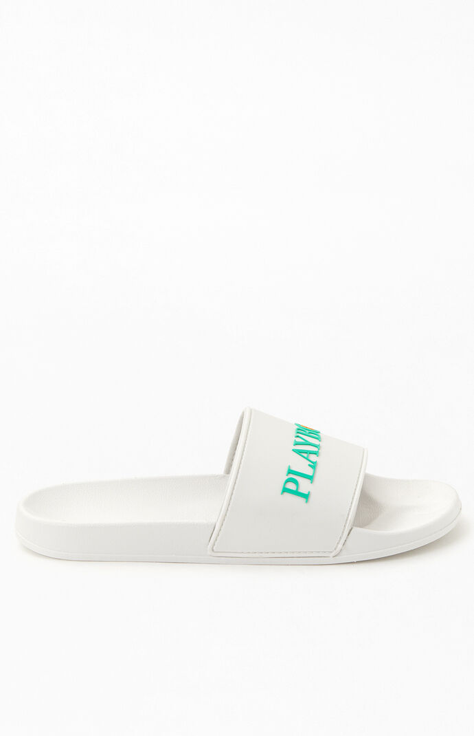 By PacSun White & Green House Slide Sandals