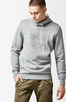 Archive Embossed Heather Grey Pullover Hoodie