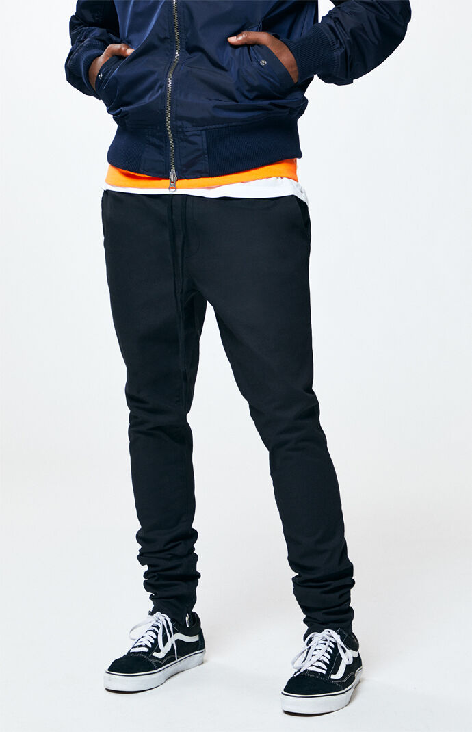 PacSun Drop Skinny Black Jogger Pants at PacSun.com 4254d2e6b289