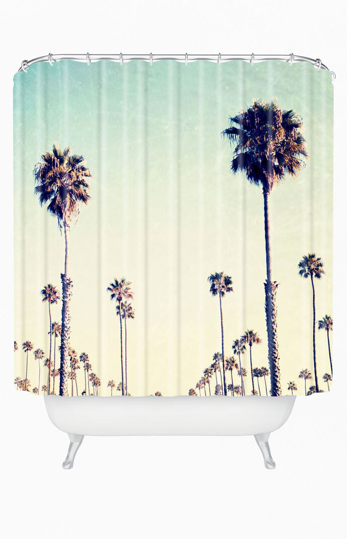 California Palm Trees Shower Curtain