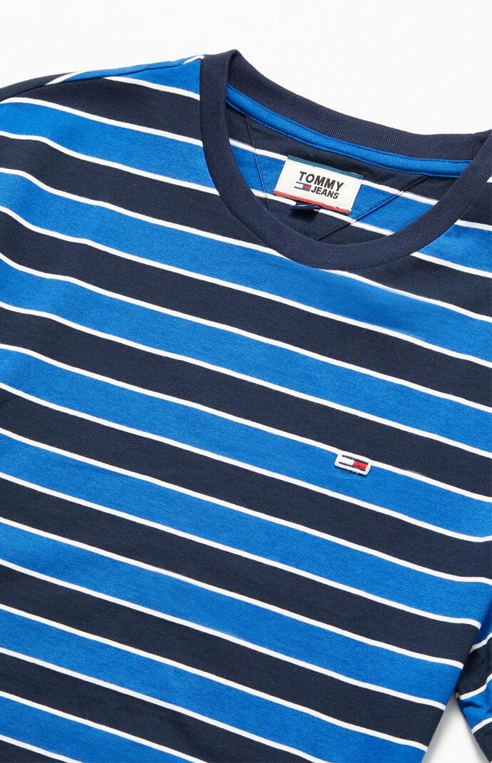 Blue Bold Striped T-Shirt