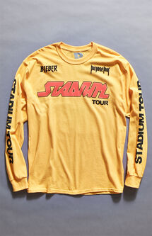 Justin Bieber Stadium Tour Gold Long Sleeve T-Shirt