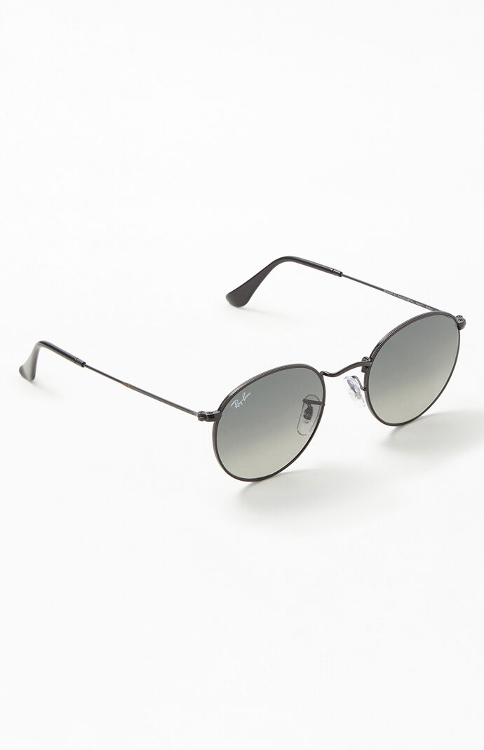 584061f38b ray-ban-round-metal-flat-lens-sunglasses by pacsun