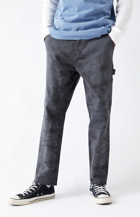 Utility Washed Navy Slim Carpenter Pants