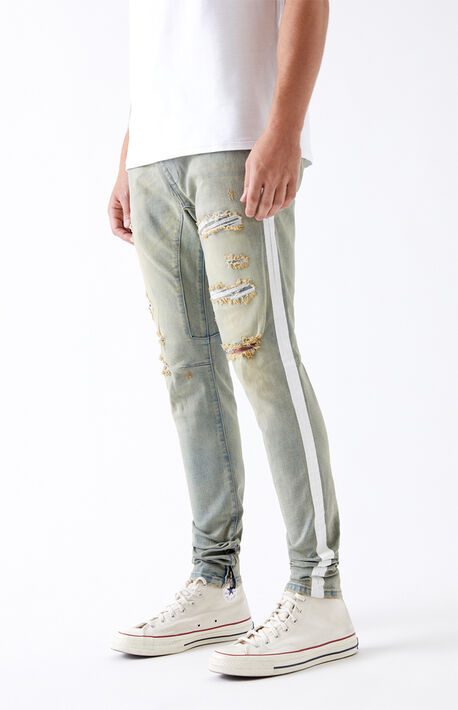 Side Stripe Drop Skinny Jogger Pants