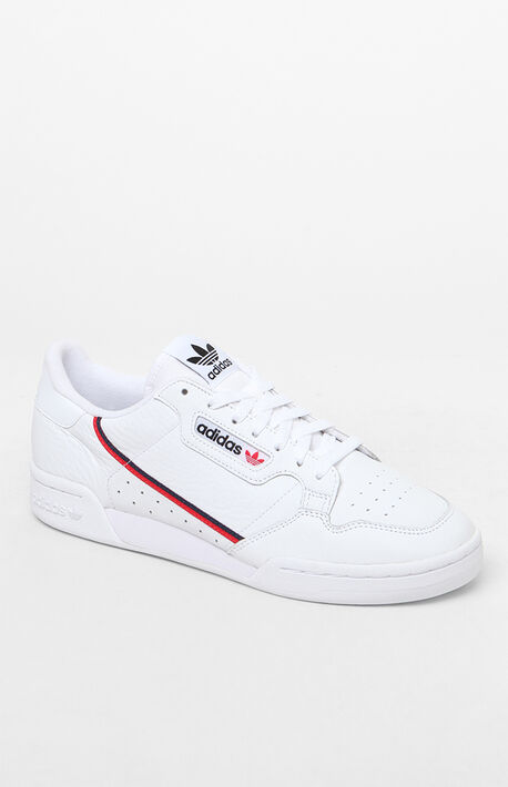White & Red Continental 80 Shoes