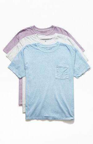 3 Pack Vintage Wash Pocket T-Shirts image number null