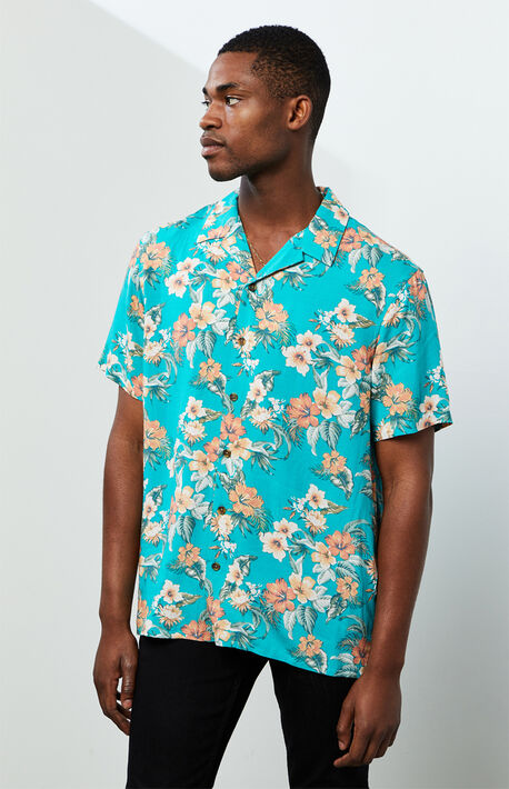 Floz Button Up Short Sleeve Shirt