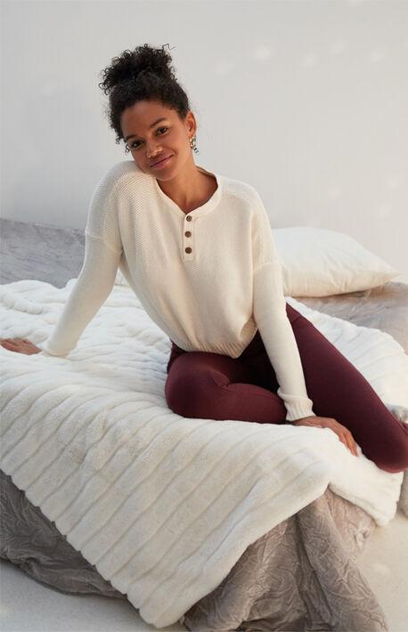 Henley Dolman Sweater