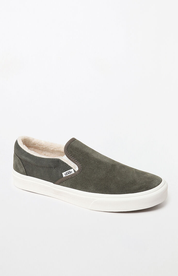 64d8ebc97dfc29 Vans Sherpa Suede Slip-On Shoes