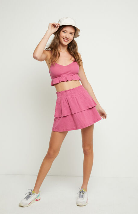 Candy Peplum Tank Top