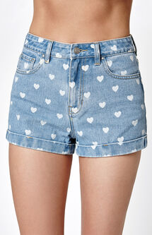 In Love Blue Denim Mom Shorts