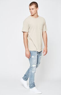 Skinny Vertical Stretch Stitch & Repair Medium Jeans