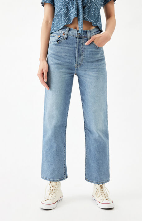 Worn Out Ribcage Straight Leg Jeans